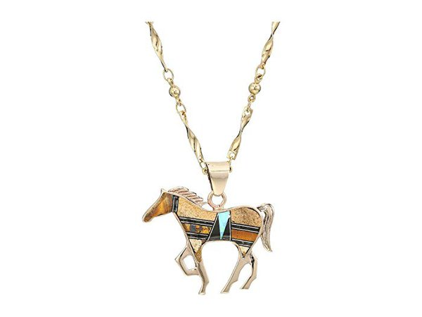 Vanessa Mooney Cowgirl Necklace with Lapis and Turquoise
