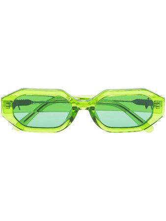 Linda Farrow x The Attico Irene geometric-frame Sunglasses - Farfetch