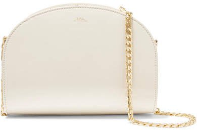Luna Smooth And Patent-leather Shoulder Bag - Ivory