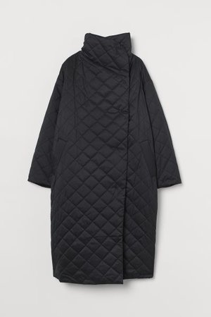 Quilted Coat - Black - Ladies | H&M US