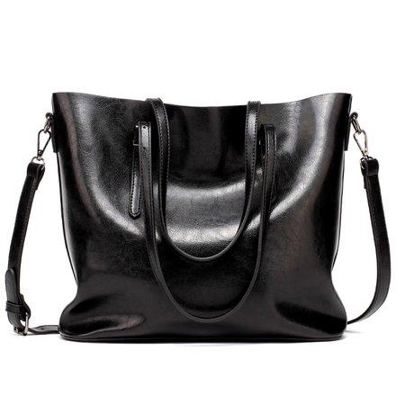 Large Leather Tote Shoulder Bag