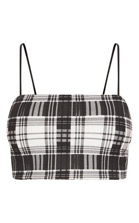 Black Check Print Crepe Mini Skirt | Skirts | PrettyLittleThing USA