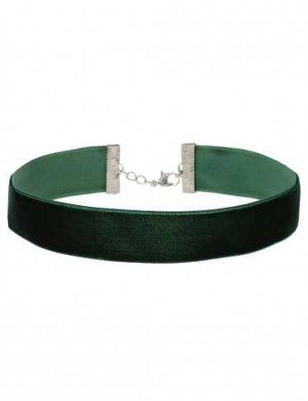 Green velvet choker - Jewelry - Castro.com