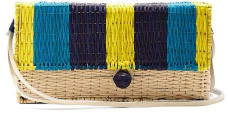 Sophie Anderson - Romina Toquilla Straw Cross Body Body - Womens - Blue Multi