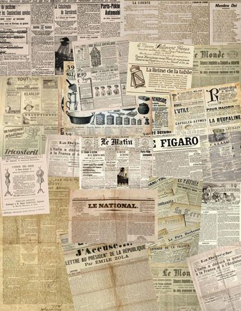 newspaper clippings aesthetic - Google Search