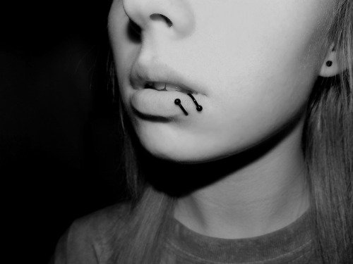 Spiral Lip Ring Piercing