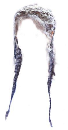silver/gray french braids - cloud9