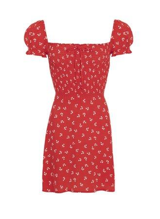 faithfull the brand - JEANNE PRINT - CHERRY - GENEVIEVE DRESS