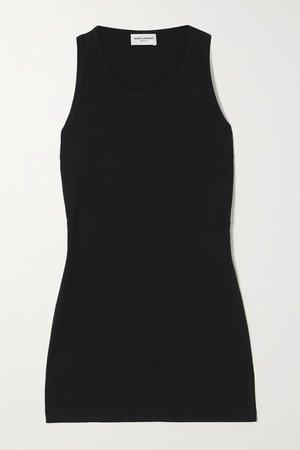 Cotton-jersey Tank - Black