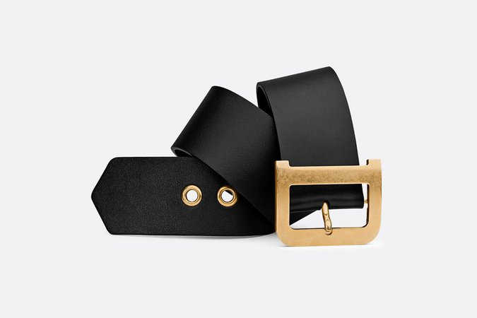 Diorquake belt in black calfskin - Accessories - Woman | DIOR
