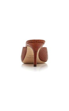 Rav Croc-Embossed Leather Mules by Jimmy Choo   Moda Operandi