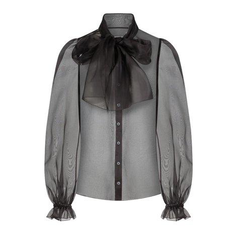 black see-through shirt