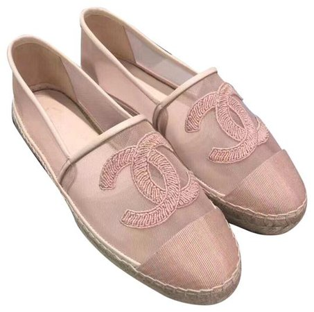 Chanel Pink Cord Cruise Espadrilles