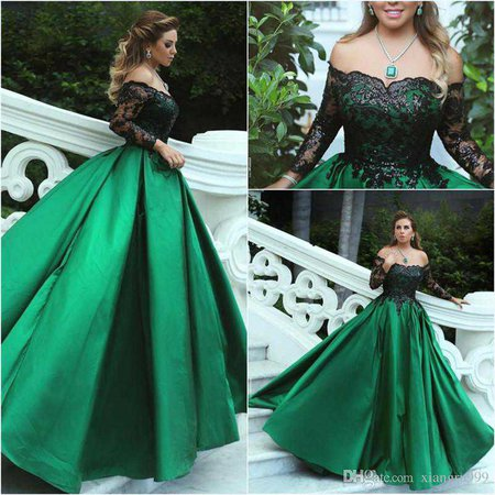 green ball gowns - Google Search