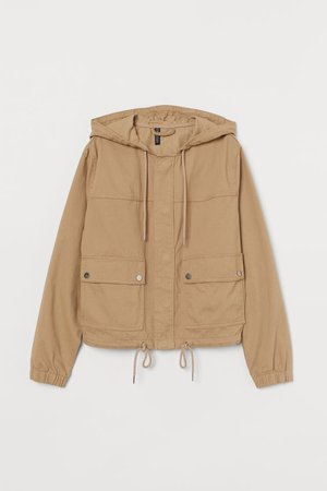 Short Hooded Jacket - Beige - Ladies | H&M US