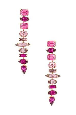 Elizabeth Cole Starla Earrings in Pink | REVOLVE