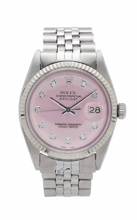 Vintage Watches Rolex Datejust 36mm Ice Pink Pearlized Diamond Dial