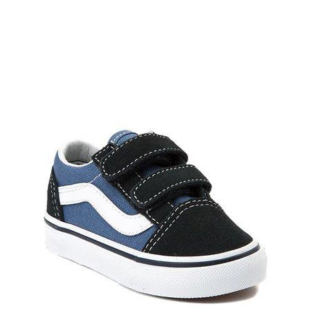 Vans Old Skool V Skate Shoe - Baby / Toddler - Blue / Navy | Journeys