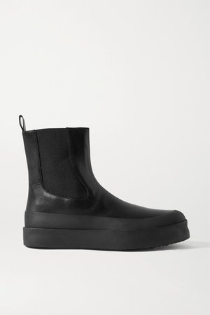 Zaniah Leather Chelsea Boots - Black