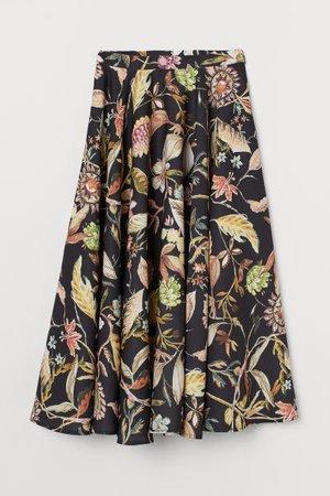 Patterned Skirt - Black/botanical - Ladies | H&M US