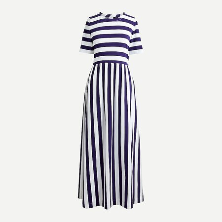 J.Crew: Maxi Dress In Rugby Stripe For Women