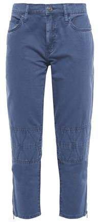 The Debbie Cropped Cotton-twill Slim-leg Pants