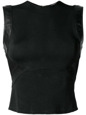 VERSACE PRE-OWNED mesh panel top $485 - Buy VINTAGE Online - Fast Global Delivery, Price