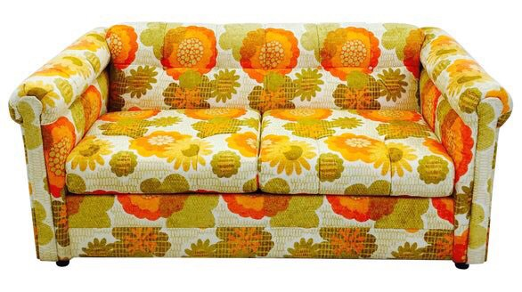 Vintage Floral Couch