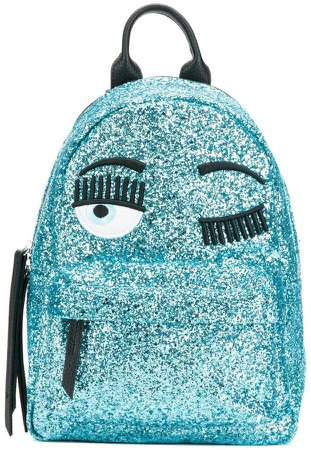 wink embroidered glitter backpack