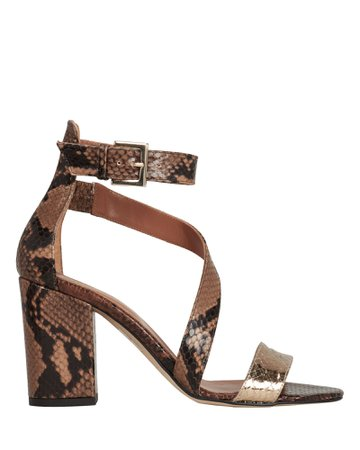 Snakeskin Embossed Sandals | INTERMIX®