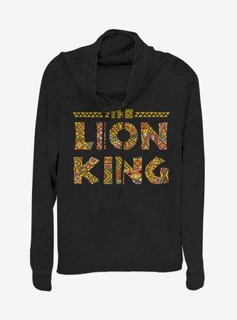 Disney The Lion King Sahara Cowlneck Long-Sleeve Girls Top