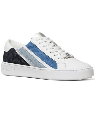 White Michael Kors Slade Lace-Up Sneakers & Reviews - Athletic Shoes & Sneakers - Shoes - Macy's