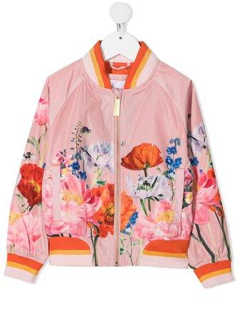 Molo Kids Floral Print Bomber Jacket - Farfetch