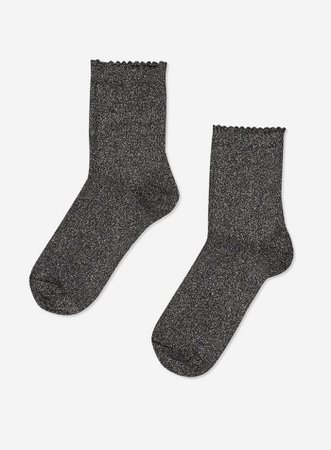 **Pieces Black Glitter Socks | Dorothy Perkins