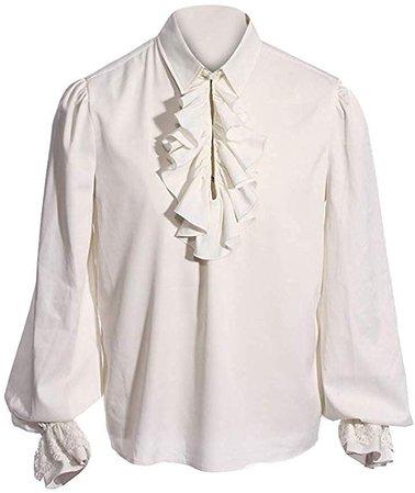 Amazon.com: Taoliyuan Mens Ruffled Medieval Costume Renaissance Pirate Steampunk Colonial Adult Cosplay Dress Shirt: Clothing