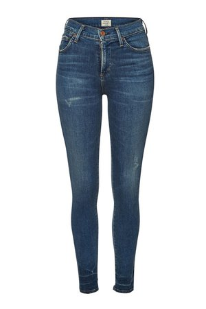 Citizens of Humanity - Rocket High-Rise Skinny Jeans with Distressed Detail