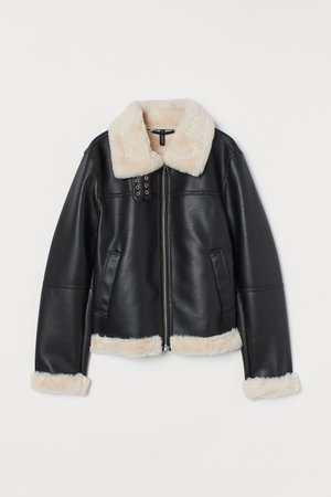 Faux Fur-lined Jacket - Black - Ladies | H&M CA