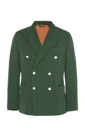 Double-Breasted Cotton-Blend Blazer by The GiGi | Moda Operandi