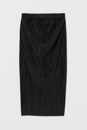 MAMA Pleated Skirt - Black