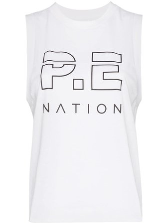 P.E Nation logo print tank top $90 - Buy Online AW19 - Quick Shipping, Price