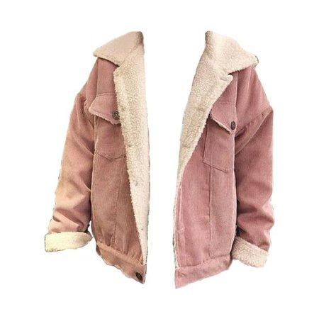 light pink corduroy sherpa jacket