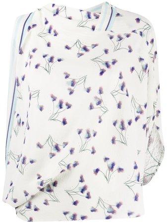 Roland Mouret, Hopkins floral print draped blouse