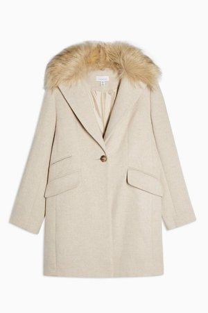 Herringbone Coat | Topshop