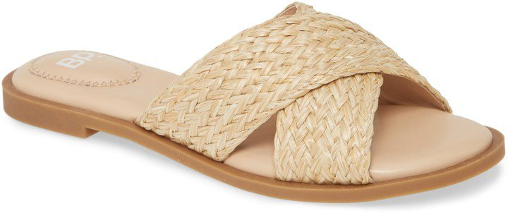 Winnie Woven Flat Slide Sandal