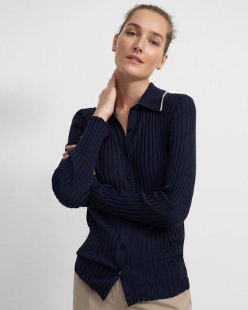 Button-Down Shirt in Regal Wool