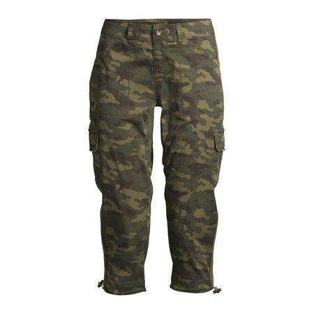 Time and Tru - Time and Tru Women's Cargo Capri Pants - Walmart.com - Walmart.com