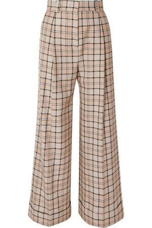 See By Chloé | Checked woven wide-leg pants | NET-A-PORTER.COM