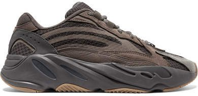 Yeezy Boost 700 V2 Suede And Mesh Sneakers - Taupe