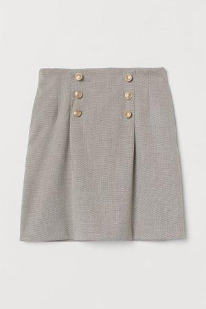 Short Skirt - grey - Ladies | H&M US