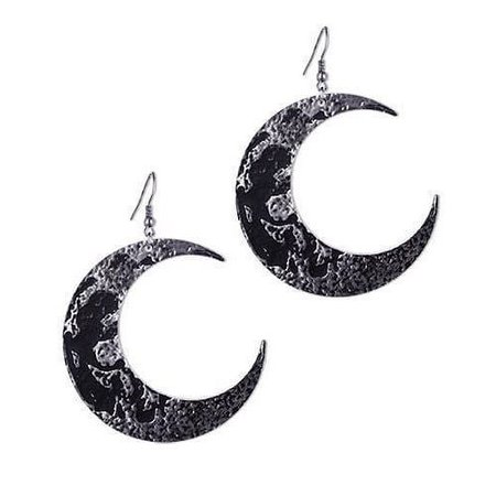 Silver Crescent Moon Earrings